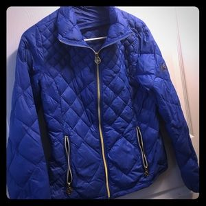Michael Kors jacket. Blue. Barely worn.